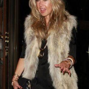 Rachel Zoe faux fur vest